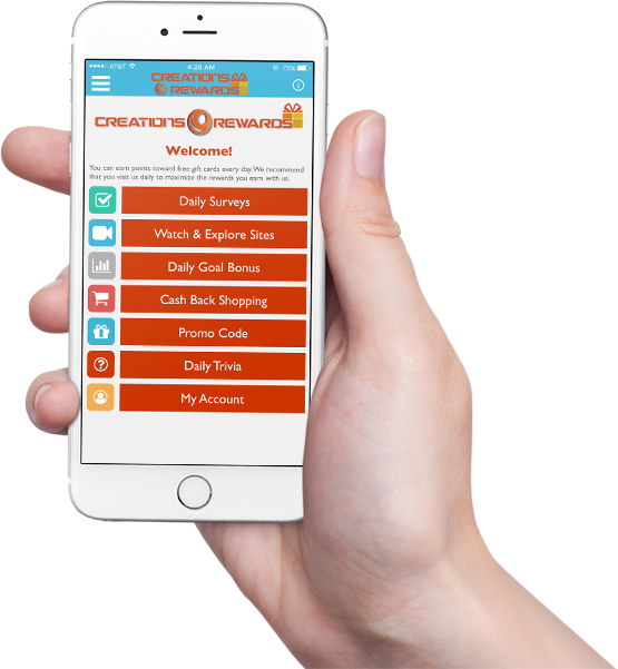 CreationsRewards Mobile App